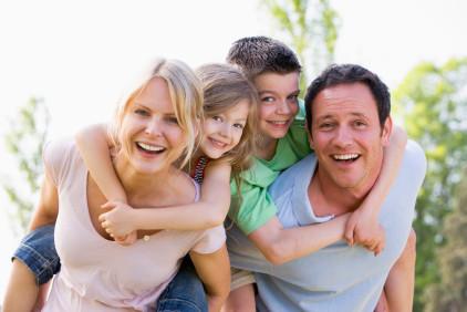 Happy family in Windsor